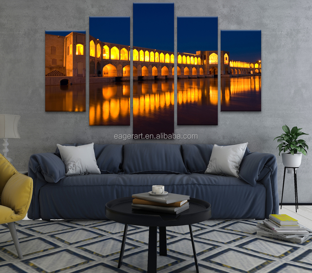 5 Panel Islamic Architecture Print on Canvas Wall <strong>Art</strong>