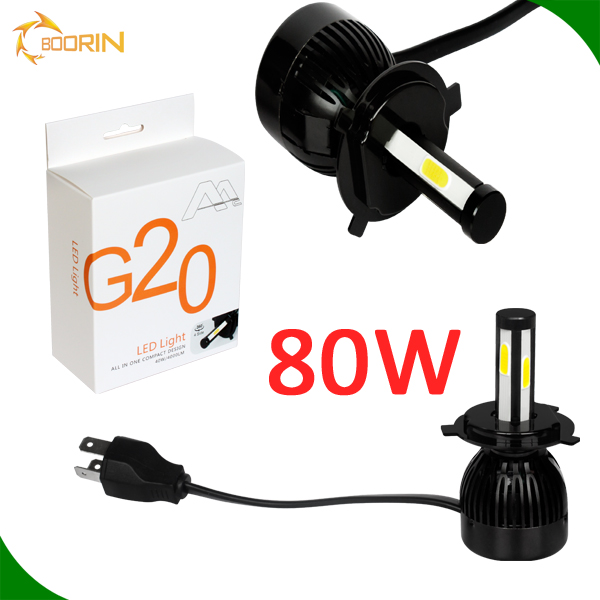 12V 24V hid led headlight kit G5 G20 led headlight for car h4 h7 h11 h13 h15 9004 9005 9006 9007 HB3 HB4, 80w 8000lm led chips