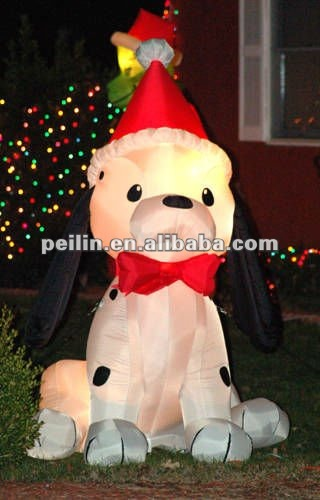 2012 NEWEST giant inflatable christmas dog