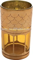 8 OZ Golden Glass Tumblers,glass tumbler with print,print glass jug