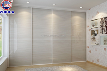 PVC bedroom wall to wall sliding wardrobe doors