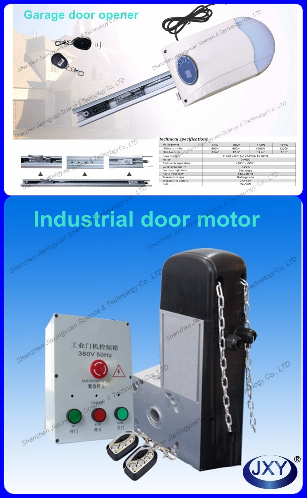 Frosted Glass / Clear Glass / Plexiglass Automatic Folding Garage Door