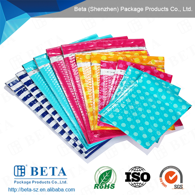 Co-extrueded Multi layer polythene film Poly Pearl Bubble Mailer