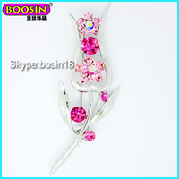 Wholesale Nice Design Metal Alloy Lady Tulip Brooch, Flower brooch fro Wedding Invitation