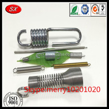 customized double hook tension spring clip