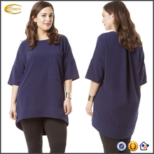 Ecoach Wholesale OEM Fashion Eelegant tunic top With Half Sleeves blouse for middle aged women Loose fit blouses