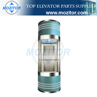 Panoramic Elevator|sightseeing elevator|popular commercial glass panoramic elevator