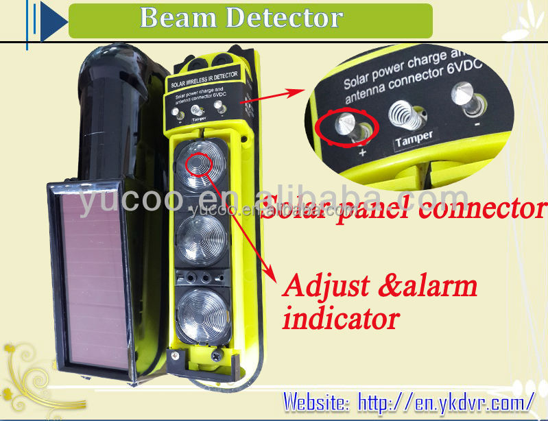 Wireless Beam Sensor with Solar Power digital home photoelectric beam sensor for house <strong>security</strong> with factory price