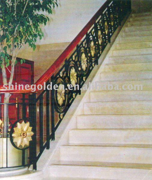 Interior Decorative Wrought Iron Stair Railings