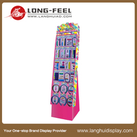 Advertising Events Trade Show Cardboard Floor Nut Display Stand