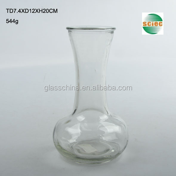 Round and Long-stem Glass Vase