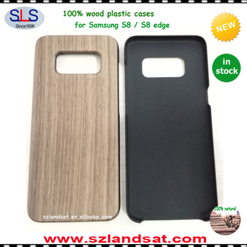 2017 factory direct sales of new Wood plastic phone case for Samsung galaxy S8 edge