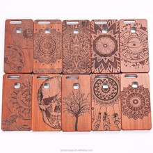 2017 New Phone Accessories Case PC Wood Case for Huawei P9 Wood Phone Case for P9