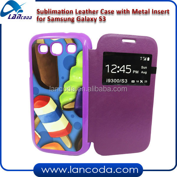 Sublimation PU Flip Phone Case for Samsung galaxy S3,2014 new phone case