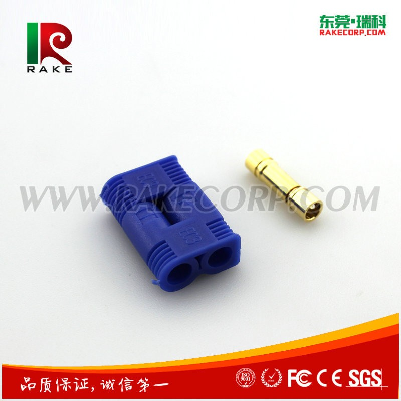 3.5mm Gold Plated Banana Plug Connector Rc Battery Connector Types with EC3 Connector Plastic Housing