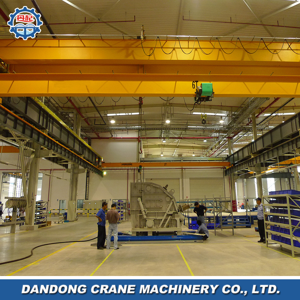 2 ton single girder waste handling FEM top running EOT crane barge