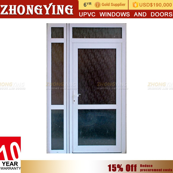 Soundproof double glaszed grill design upvc used window and door