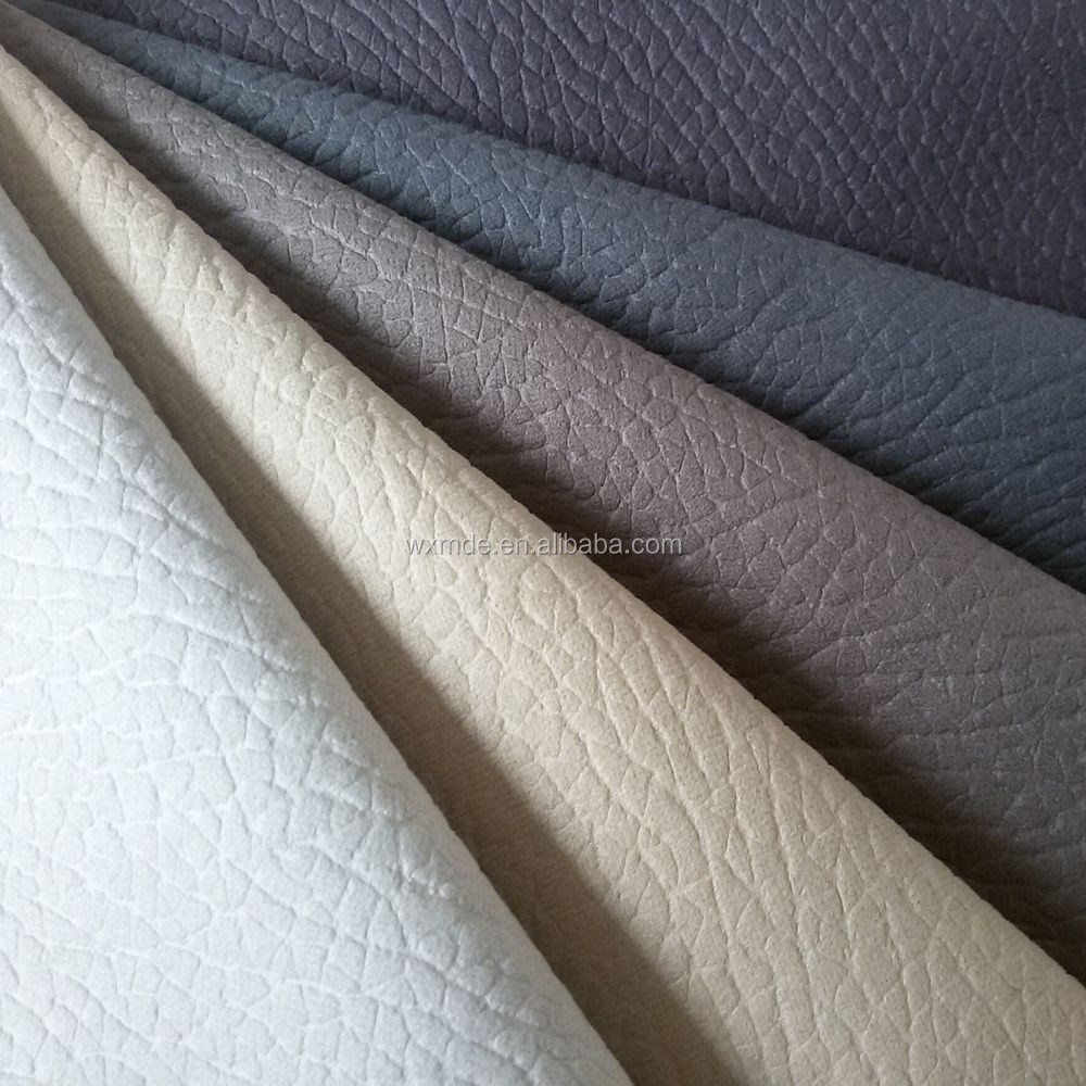 100 Polyester Sofa Upholstery Fabric With Microfleece