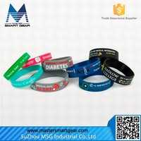 HOT Silicone Wrist Band/Personalized Silicone Bracelet/Silicone Rubber Bracelet