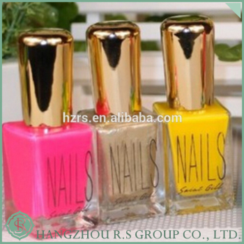 High quality 15ml square empty nail polish bottle, nail polish remover bottle