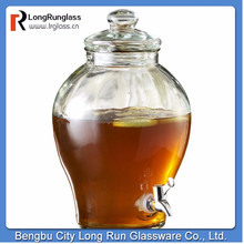 Longrun glassware transparent pot shape wholesale Glass Beverage Dispenser made in china