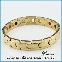 M- Crystal Energy Golden Bracelet with High quality 316L stainless steel neodymium,scalar energy bracelet