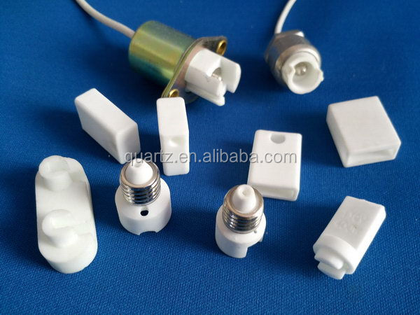 High temperature ceramic parts for lamp