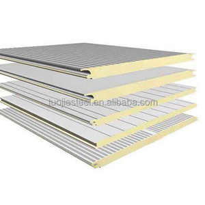 light weight color steel plate polyurethane sandwich plate thickness 40mm for roof panels