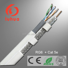 Connected Dual Coax RG6 and Dual Cat. 5e Cable Provide Ease of Installation