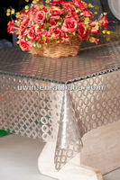 elegant 3D EVA transparent glass table table cover clear vinyl cover