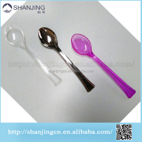 12cm biodegradable disposable plastic yogurt dessert spoon mini coffee spoon manufacturer