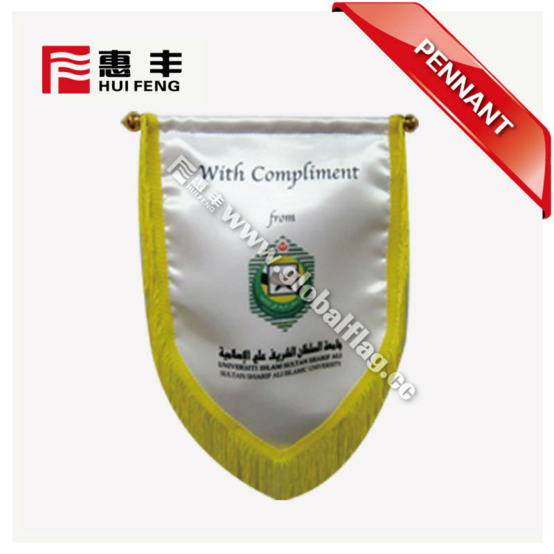 2018 Russia World Cup sublimation satin football club rectangle flag wholesale sport usage felt pennant for team