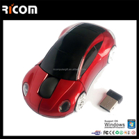 Wireless Optical Car Mouse 1600dpi USB 2.4G for promotional items