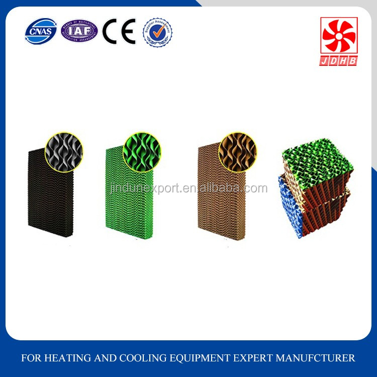 Evaporative corrugated cellulose evaporative cooling pad