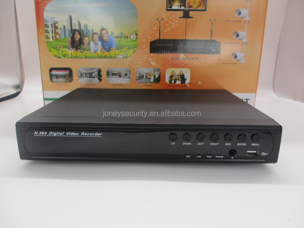 HOT Security system IR 1MP Bullet POE IP Camera 4ch POE CCTV NVR Kit