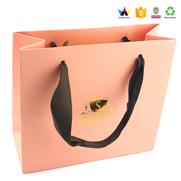 Customized High Quality Flat Boutique Paper Bag for Shopping