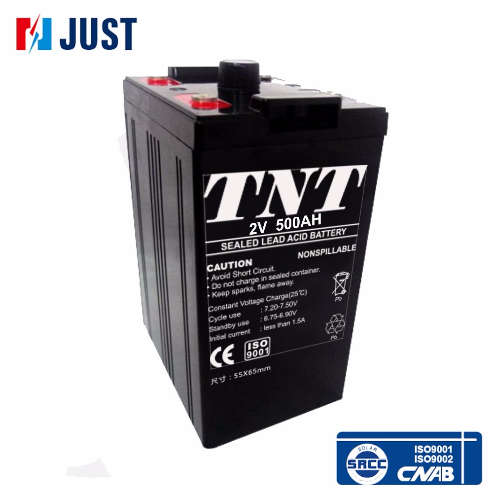 High temperature resistant solar 2 volt deep cycle batteries 500ah