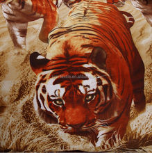 3d tiger printed famous brand bedding set
