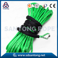 synthetic uhmwpe material winch rope with hook