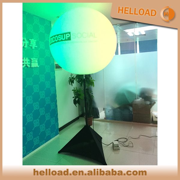 wholesale 1.2M custom Inflatable led light bulb inside balloon stand pole light for sale