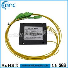 hot selling 1x2 optical plc splitters/1/4 plc/1x2 fiber optic splitter and coupler for PON <strong>network</strong>