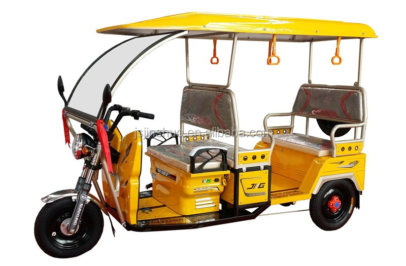 2016 New Electric Rickshaw For Passengers Battery Operated Electric Tricycle For India