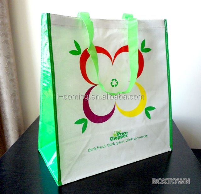 Eco-friendly cheap recycled used PP woven shopping bag