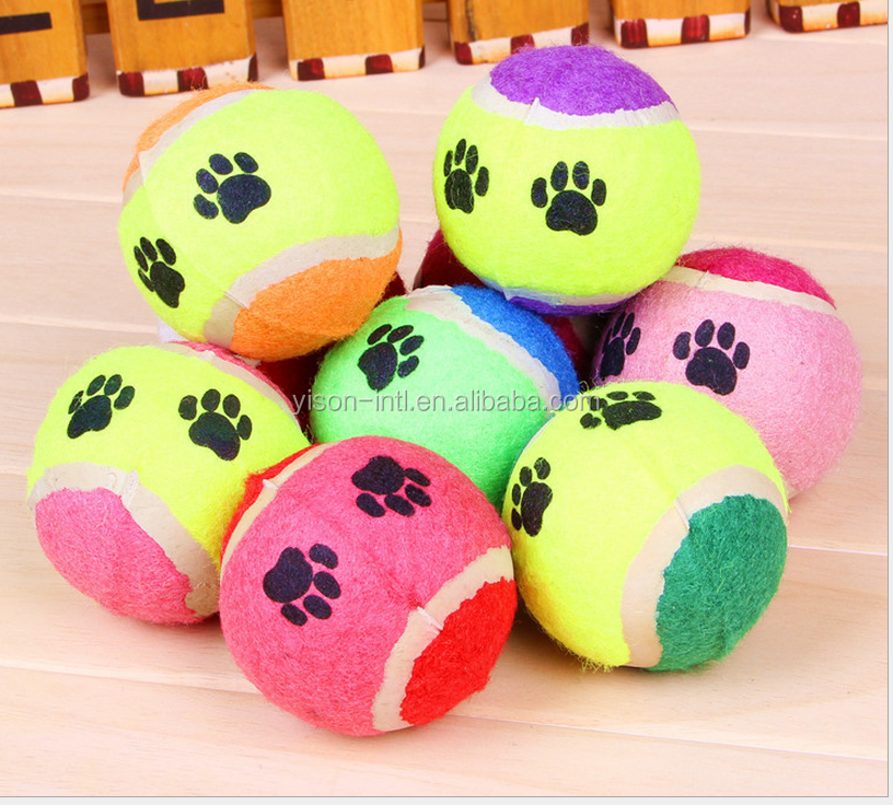 Dogs Application and Pet Toys Type tennis ball,Pet Tennis Ball Thrower,squeaky tennis ball rubber dog toys