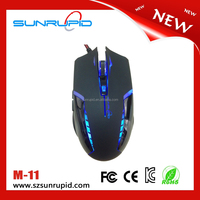 Liquid design 1600 DPI 6-buttons wireld gaming mouse with blue backlight