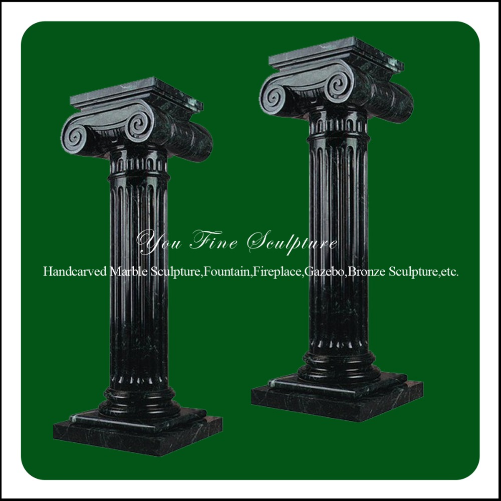Project Needed Black Marble Columns For Bid
