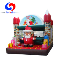 Commercial funny christmas theme inflatable bouncer for party