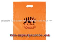 Cheap price HDPE orange die cut bag