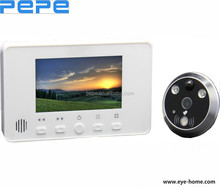 4.3 inch peephole viewer with night visioin professional camera to take photo or video motion detection auto recording