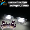 18SMD Car Auto LED Number License Plate Light for Peugeot 206 207 306 307 406 407 308 and for Citroen C3 II C3 PICASSO C4 PICAS